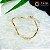 Pulseira Dourada com Elos Quadrados - Imagem 1