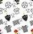 Papel de Parede Adesivo Atlético MG Escudo, Mascote e Bola Branco - Imagem 2