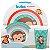 Kit Alimentação Infantil Animal Fun Macaco - 3 Peças - Imagem 1