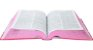 Bíblia Sagrada  C/ Harpa Cristã letra grande  florida vermelha média - Imagem 2