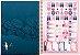 Caderno Universitário 1 Matéria Aloha Azul/Branco - Imagem 3