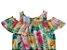 macacão ciganinha floral abrange tamanho 4 - Imagem 2