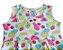 vestido frutinhas Abrange com cinto rosa tamanho 8 - Imagem 3