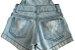 macacão  jeans curto mundo kids tamanho 2 - Imagem 6