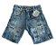 short esportivo jeans masculino mundo kids - Imagem 1