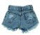 short  jeans moderninho rasgadinho mundo kids - Imagem 4