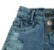 short  jeans moderninho rasgadinho mundo kids - Imagem 2