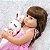 Boneca Reborn Bebê 100% Silicone Pode Tomar Banho Princesa Rosa 55cm  - Imagem 3