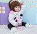 48cm Bebê Boneca Reborn 100% Silicone Panda Olho Castanho Pode Tomar Banho - Imagem 2