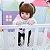 48cm Bebê Boneca Reborn 100% Silicone Panda Olho Castanho Pode Tomar Banho - Imagem 3