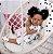 57cm bebê boneca reborn menina silicone corpo encaracolado cabelo de fibra com saia floral - Imagem 1