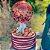 20 cm Red Velvet e Topo de Morangos e Balão - Imagem 1