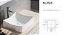 Cuba de cerâmica para banheiro/lavabo 40x40x12 cm - Imagem 3
