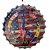 Placa de metal decorativa 35 cm - Imagem 1