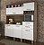 Kit Cozinha 5 Portas Smart Nogal/Branco Nesher - Imagem 1