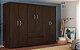 Guarda Roupa 6 Portas Soft Ebano Touch - Demobile - Imagem 4