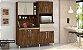 Armário de Cozinha Rubi 8 Portas - Malbec com Camurça - Imagem 3