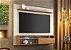 Painel Suspenso Notável NT 1100 Para TV de 60 Polegadas Off white/ Freijo Trend - Imagem 1