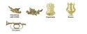Distintivos Dourados de Gola EB  (Unidade) - Imagem 4