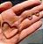 Brinco Coração Vazado Cravejado Zircônias - Banho Ouro - Imagem 2