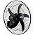 Ventilador de Parede Preto 135W Bivolt com 5 Pás Rajada Pro 60 - WAP-FW006661 - Imagem 3