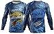 Camisa de Pesca Esportiva Dourado Proteção UV Azul Manga Longa Adulto PP ao XGG - Imagem 3