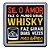 Porta Copo Amor Vs Whisky - Imagem 1