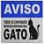 Capacho Em Vinil Aprovados Pelo Gato - 60 X 40 - Imagem 2