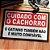 Capacho Em Vinil Cuidado Com O Cachorro E Gato - Imagem 1
