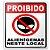 Placa - Proibido Alienígenas Neste Local - 15 X 20 Cm - Imagem 1