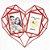 Porta Retrato Duplo Coração Diamante - Cores Sortidas - Imagem 1