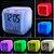 Relógio Despertador De Mesa Cube Led 7 Cores - Imagem 3