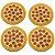 Jogo de Porta Copos Pizza Peperoni - 4 peças - Imagem 1