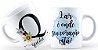 Caneca Floral Alfabeto Letra Q - Imagem 1