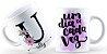 Caneca Floral Alfabeto Letra U - Imagem 1