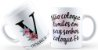 Caneca Floral Alfabeto Letra V - Imagem 1