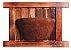 Vaso Artesanal Rústico de Parede - Madeira e Fibra de Coco - 36 x 50cm  - Imagem 1