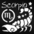 Adesivo - Escorpião Scorpio Signos Do Zodíaco Signs - Imagem 2