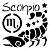 Adesivo - Escorpião Scorpio Signos Do Zodíaco Signs - Imagem 1