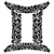Adesivo - Gêmeos Gemini Signos Do Zodíaco Signs - Imagem 1