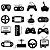 Adesivo - Controles Joysticks Video Games Gamer - Imagem 1