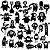 Adesivo - Cartela Halloween Monstros Monters Aliens - Imagem 1
