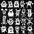 Adesivo - Cartela Halloween Monstros Monsters Aliens - Imagem 2