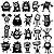 Adesivo - Cartela Halloween Monstros Monsters Aliens - Imagem 1
