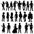 Adesivo - Cartela Pessoas Mulheres Homens Men Women People - Imagem 1
