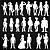 Adesivo - Cartela Pessoas Mulheres Homens Men Women People - Imagem 2