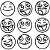 Adesivo - Cartela Emojis Smiles - Imagem 1