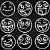 Adesivo - Cartela Emojis Smiles - Imagem 2