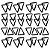 Adesivo - Cartela Triângulos Triangles - Imagem 1