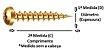 Parafuso P/ Madeira ou Buchas - Chipboard Cab PANELA Chave Philips Ferro Bicromatizado (amarelo) - Imagem 2
